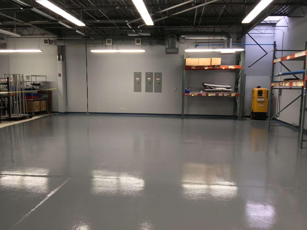 Epoxy Floor Coating In Wet Warehouse