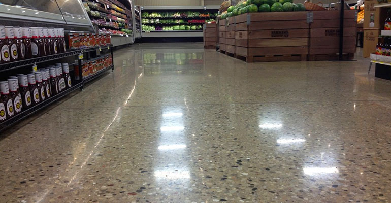 Polished Concrete Grocery Store Floor