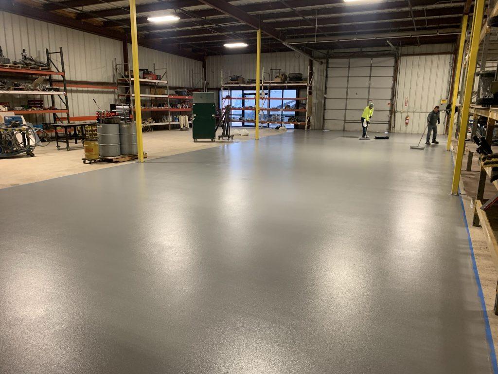 Epoxy Flooring In Maintenance Shop