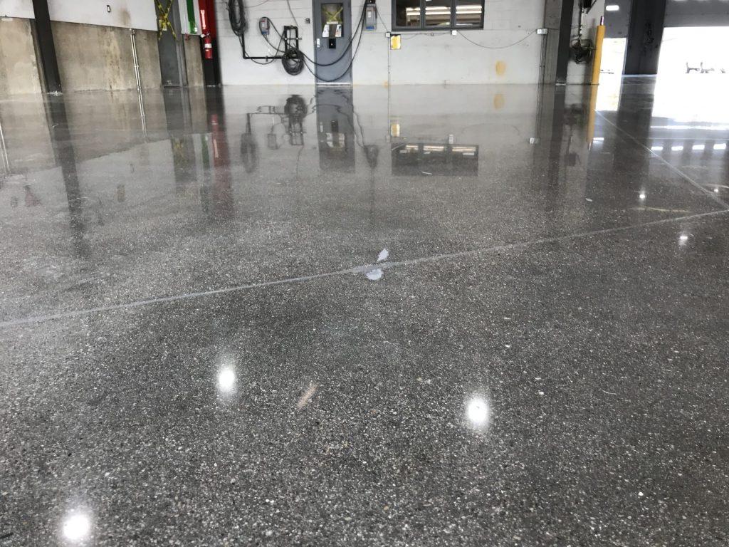 Industrial Polished Concrete Floor