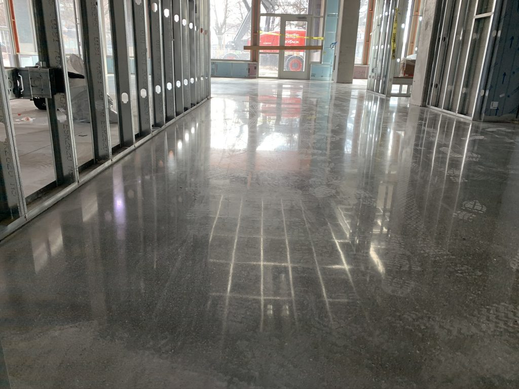 Polished Concrete High Gloss Office