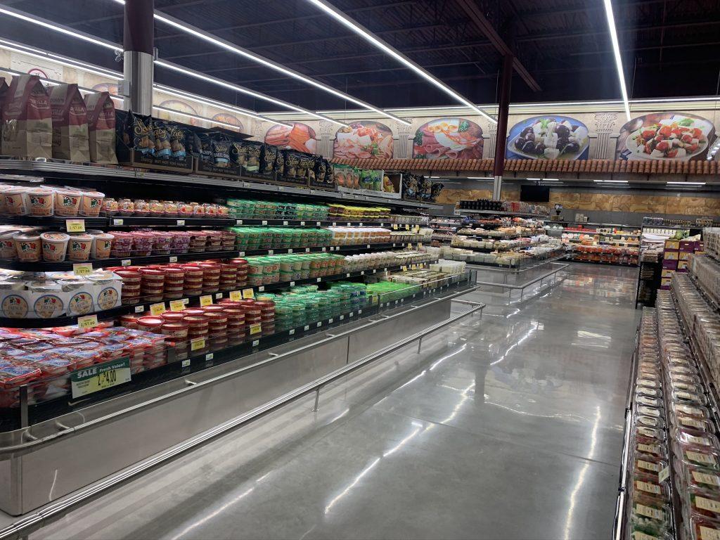 Supermarket Polished Concrete Flooring