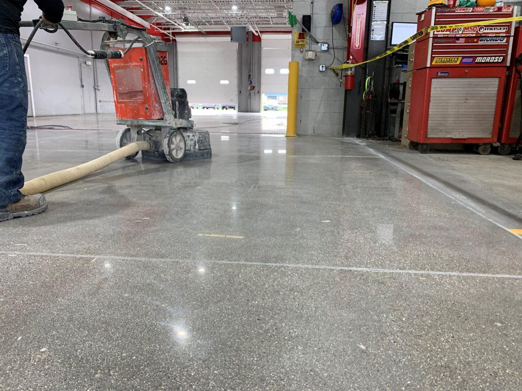 Mechanical Concrete Floor Polishing
