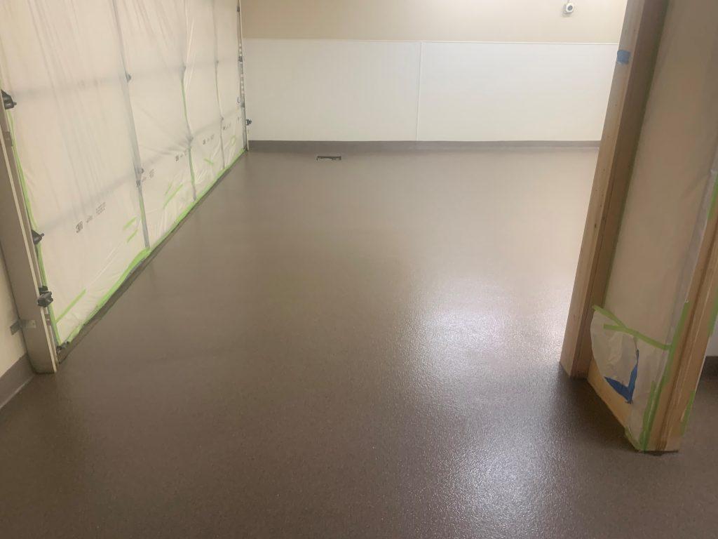 Decorative quartz epoxy floor.