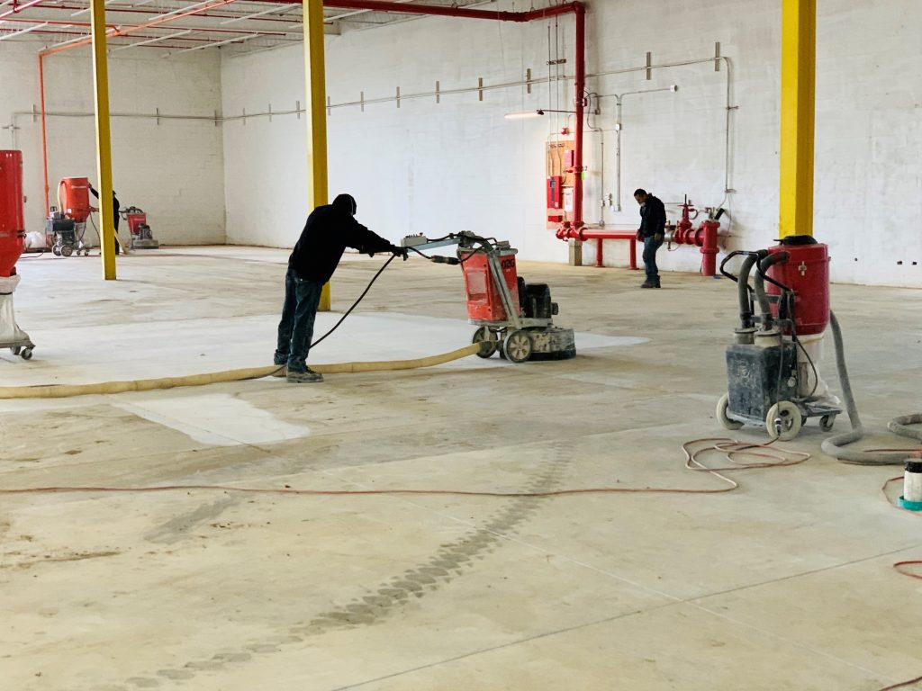 Diamond grinding floor preparation