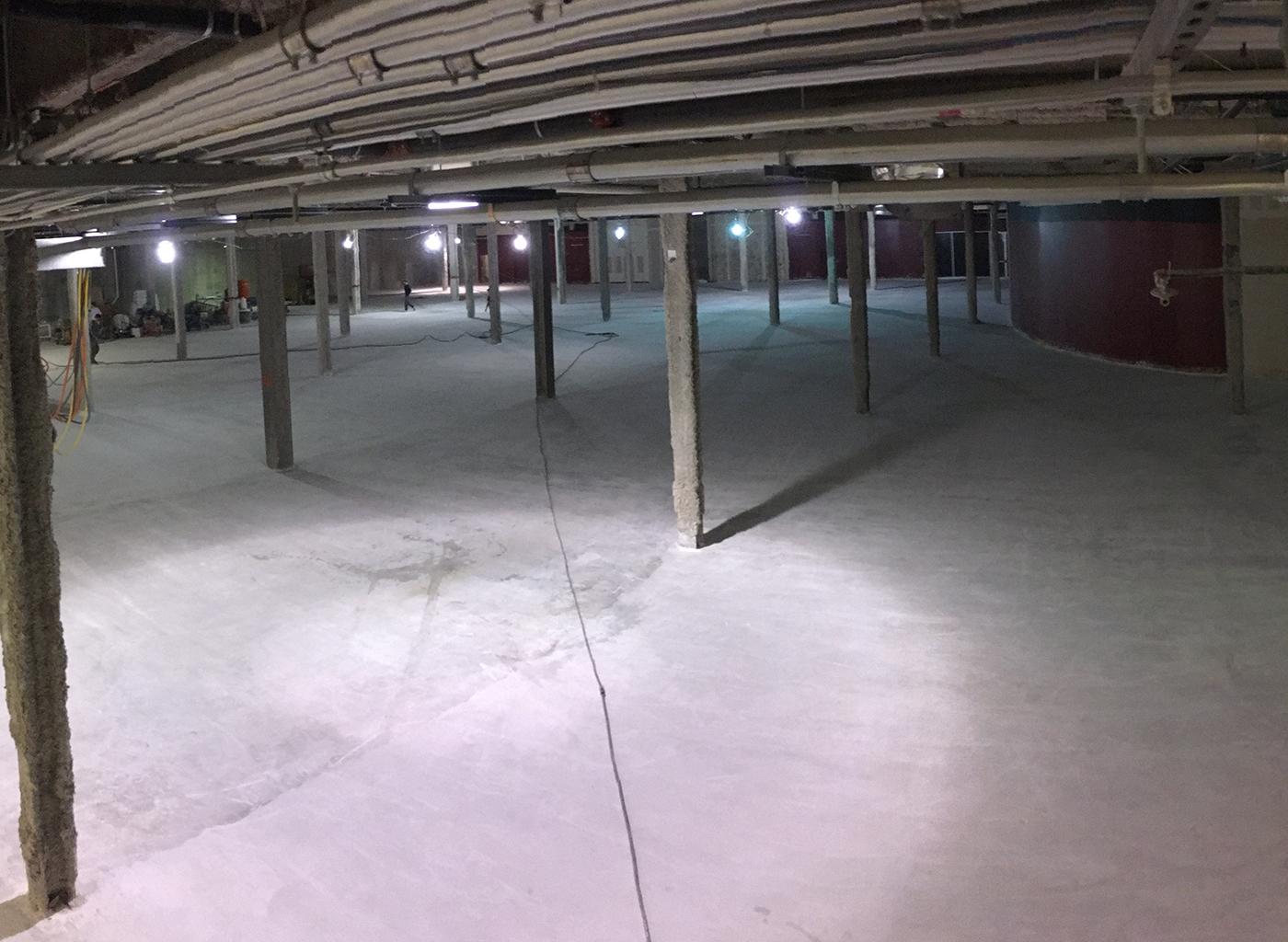 Floor After Grinding