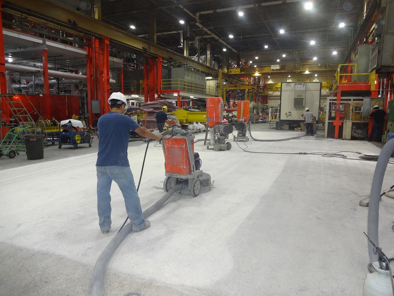 Grinding Factory Floor